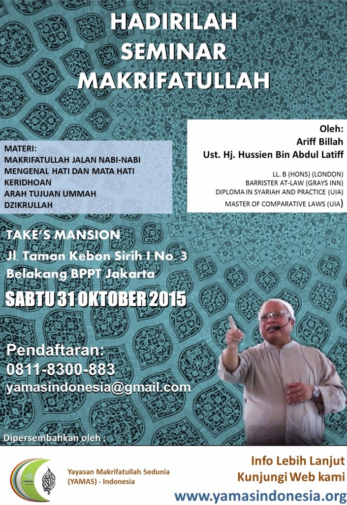 Yamas - 31 Oktober Seminar
